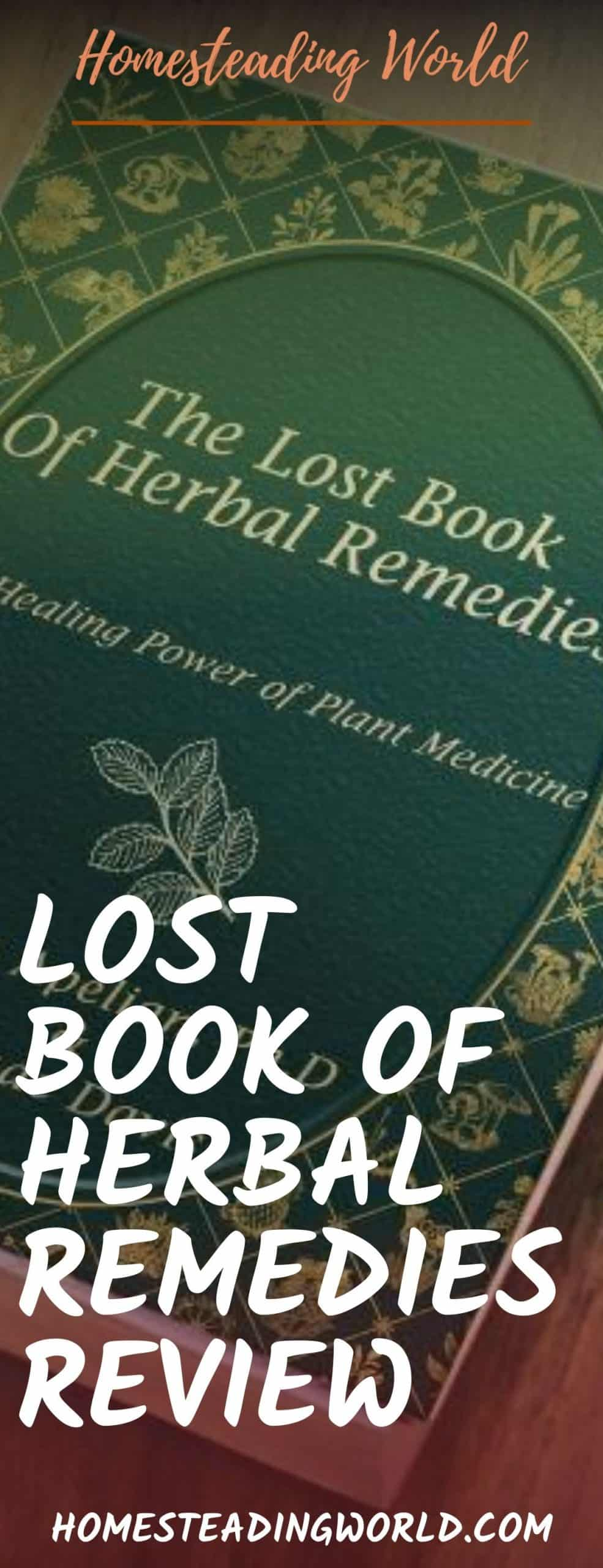 Lost Book of Herbal Remedies Book Review